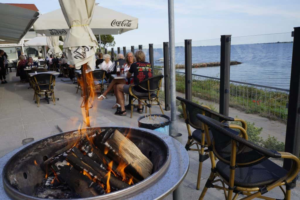 God udsigt på Restaurant Klinten i Faaborg.