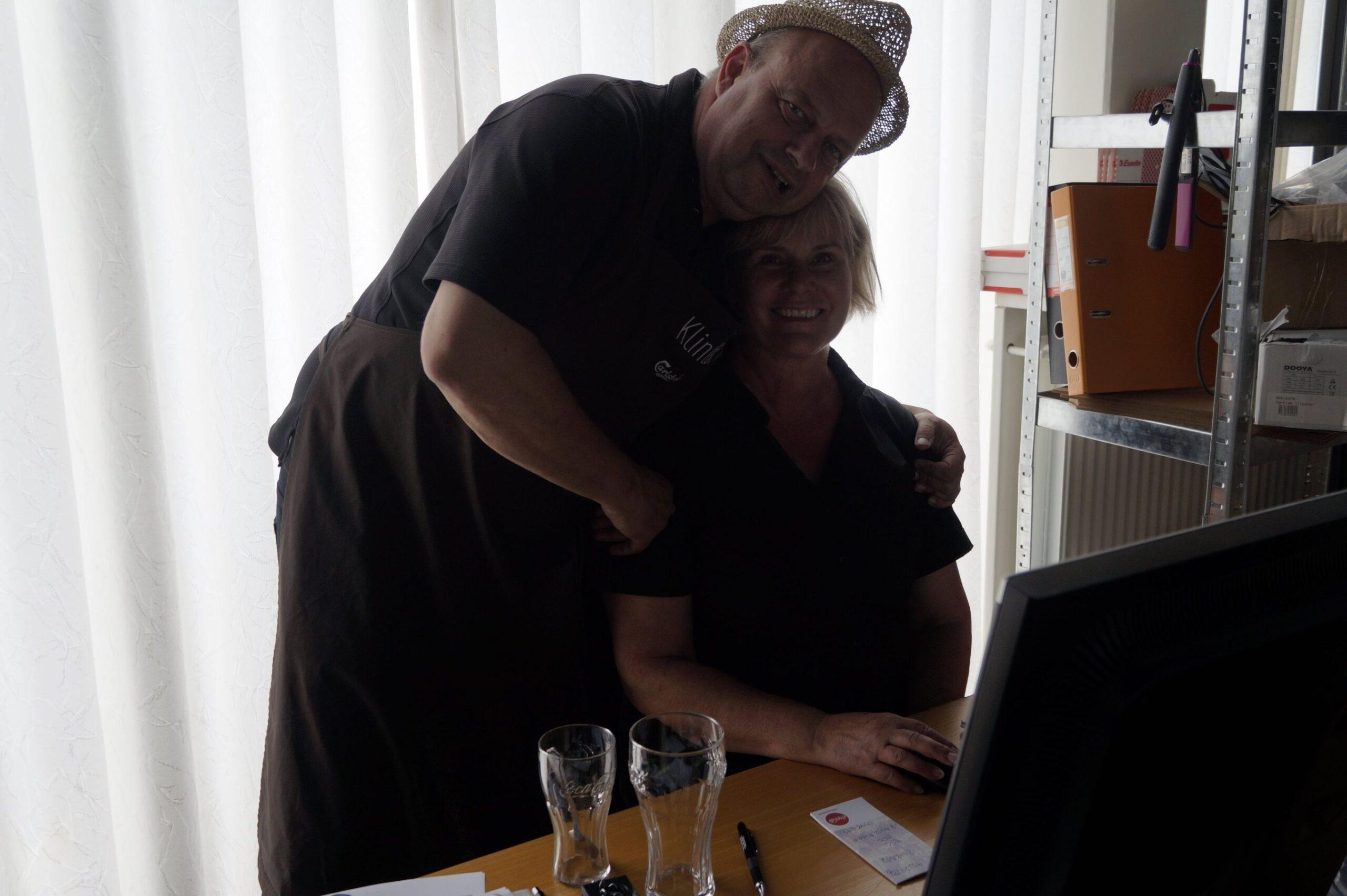 Charlotte og Per ved Restaurant Klinten i Faaborg.
