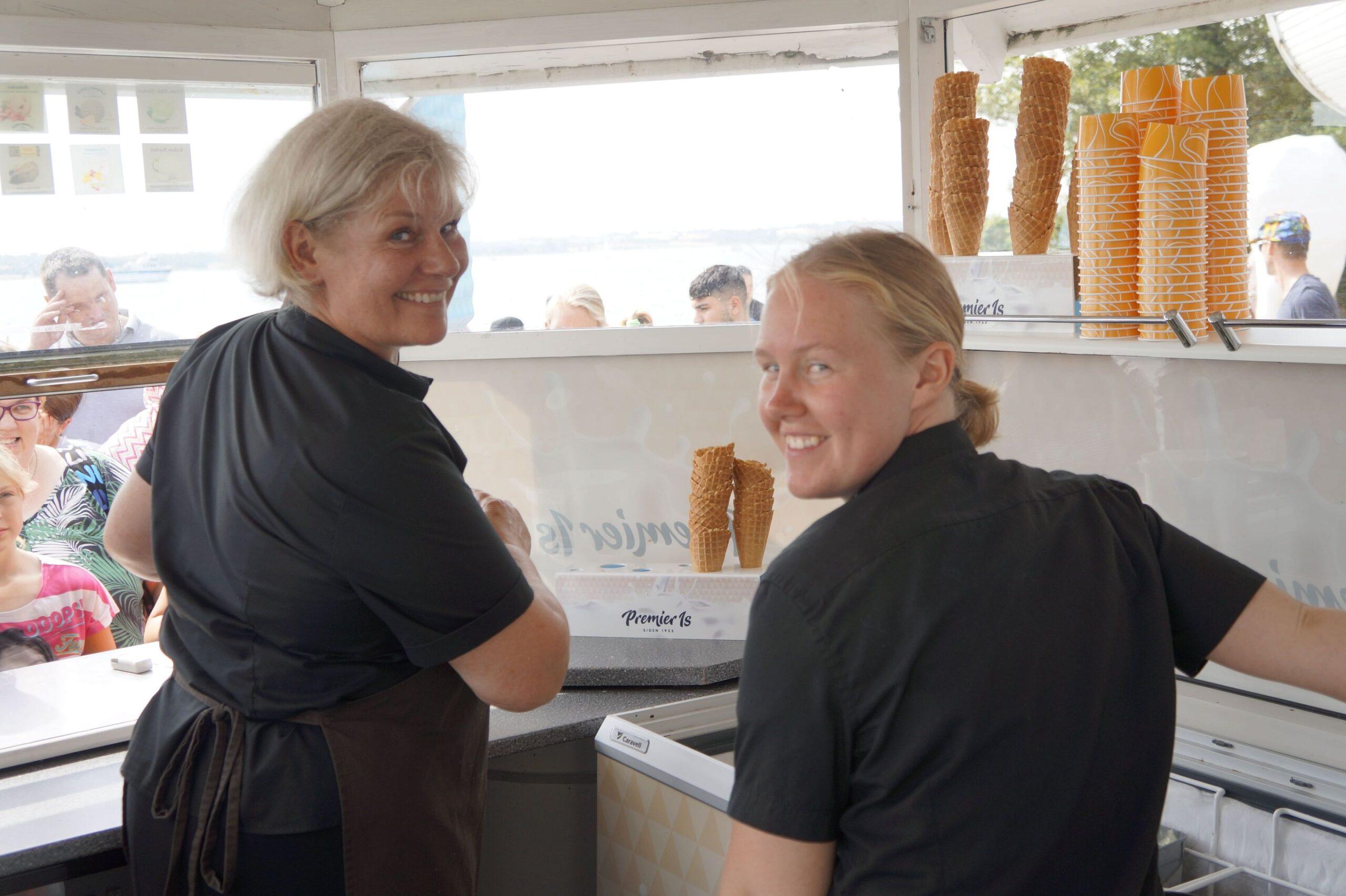 Sommer og sol i Faaborg skal nyde med gode is ved Restaurant Klinten.