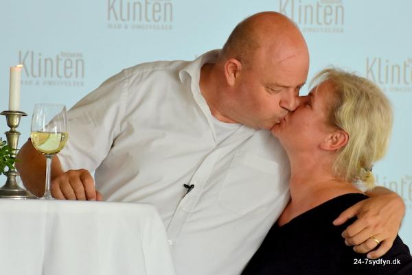Charlotte og Per. Indehavere af Restaurant Klinten i Faaborg.