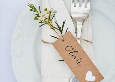 Bryllupsfest bordkort Fyn