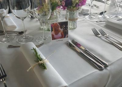 Bordkort bryllupsfest Fyn